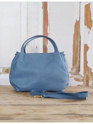 Joof Leren handtas van soepel Italiaans leer lichtblauw
