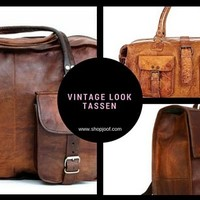 """Stoere '""""unisex"""" leren tassen met een vintage look"""