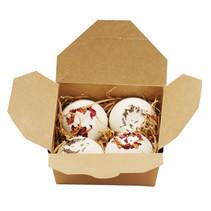Natuurlijke Lavendel & Roos Bad truffels cadeau set- 4 x 45 gram