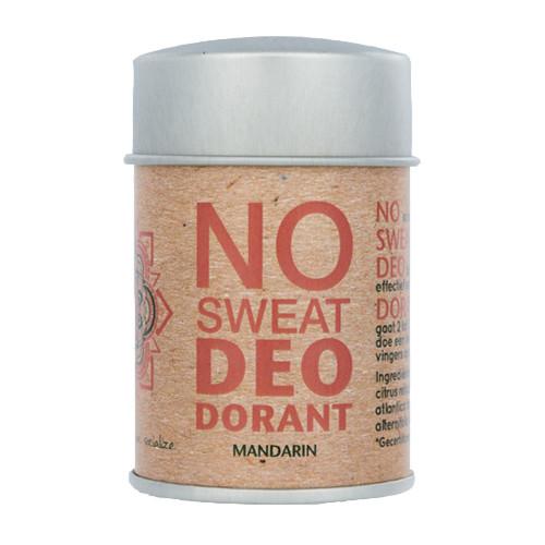 No sweat - Deopuder Mandarine - 60 Gramm
