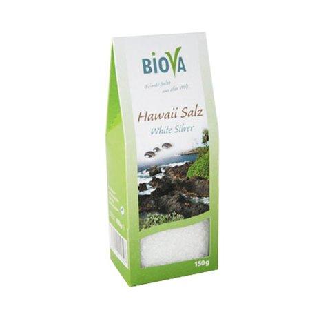 Biova Weißes Hawaii Salz - feinkörnig -150g