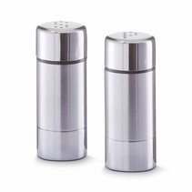 salt and pepper set - stainless steel