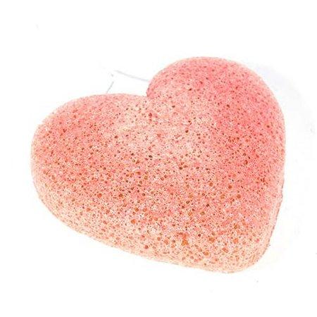 Nutrikraft konjac svamp ler orange lys pink - hjerte