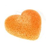 Konjac-Schwamm Kurkuma-Orange herzförmig