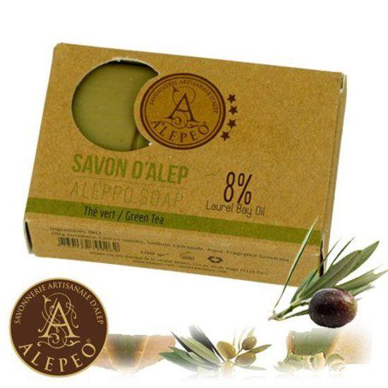 Aleppo-Seifenstück - grüner Tee - 100 g