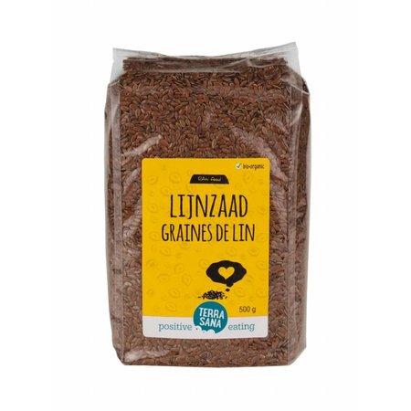Terrasana rawfood bio lijnzaad heel - 500g