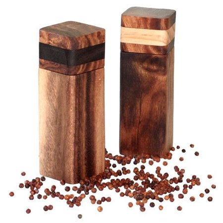 Project Pepper håndlavet fair trade peber eller salt mølle - træ