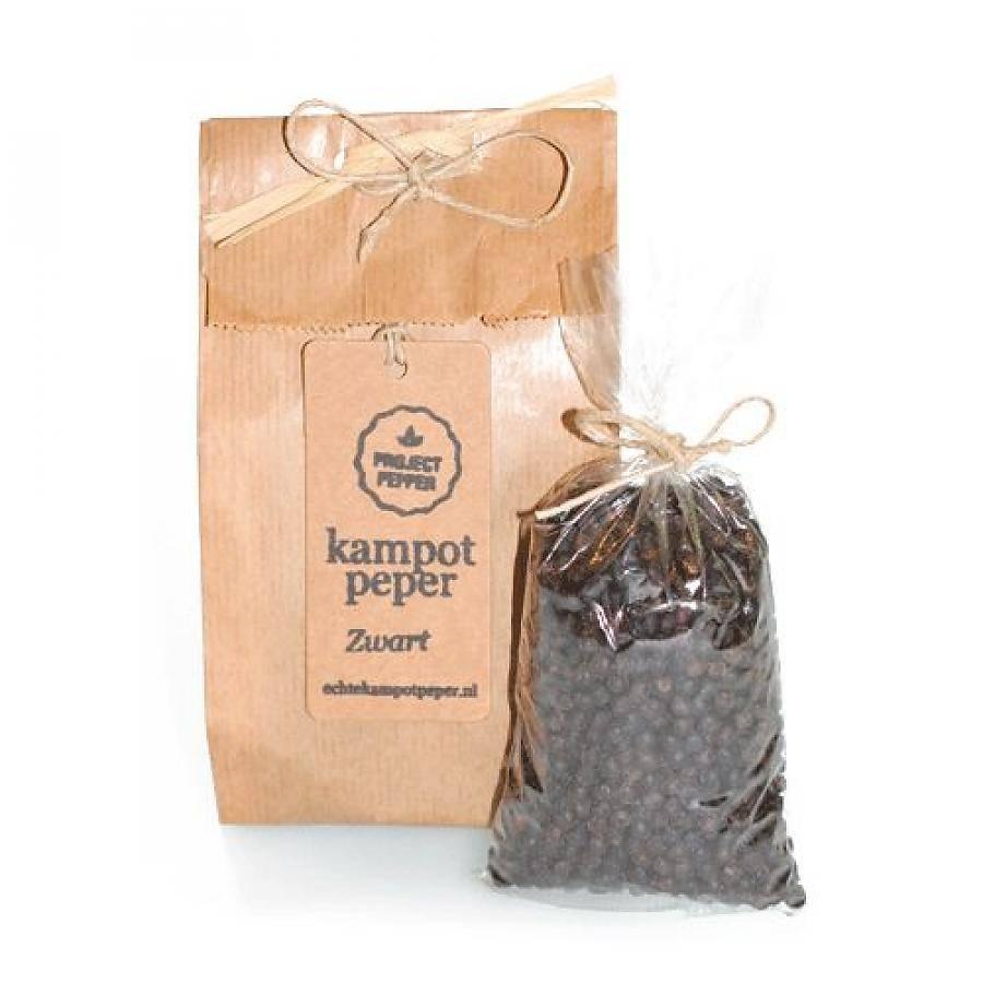 fair trade sort Kampot peber - 90g