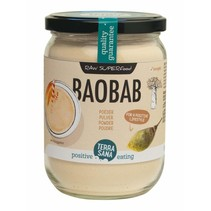 organic baobab powder in glass 190g