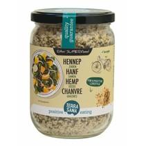 hemp seed organic peeled raw whole in glass - 275g