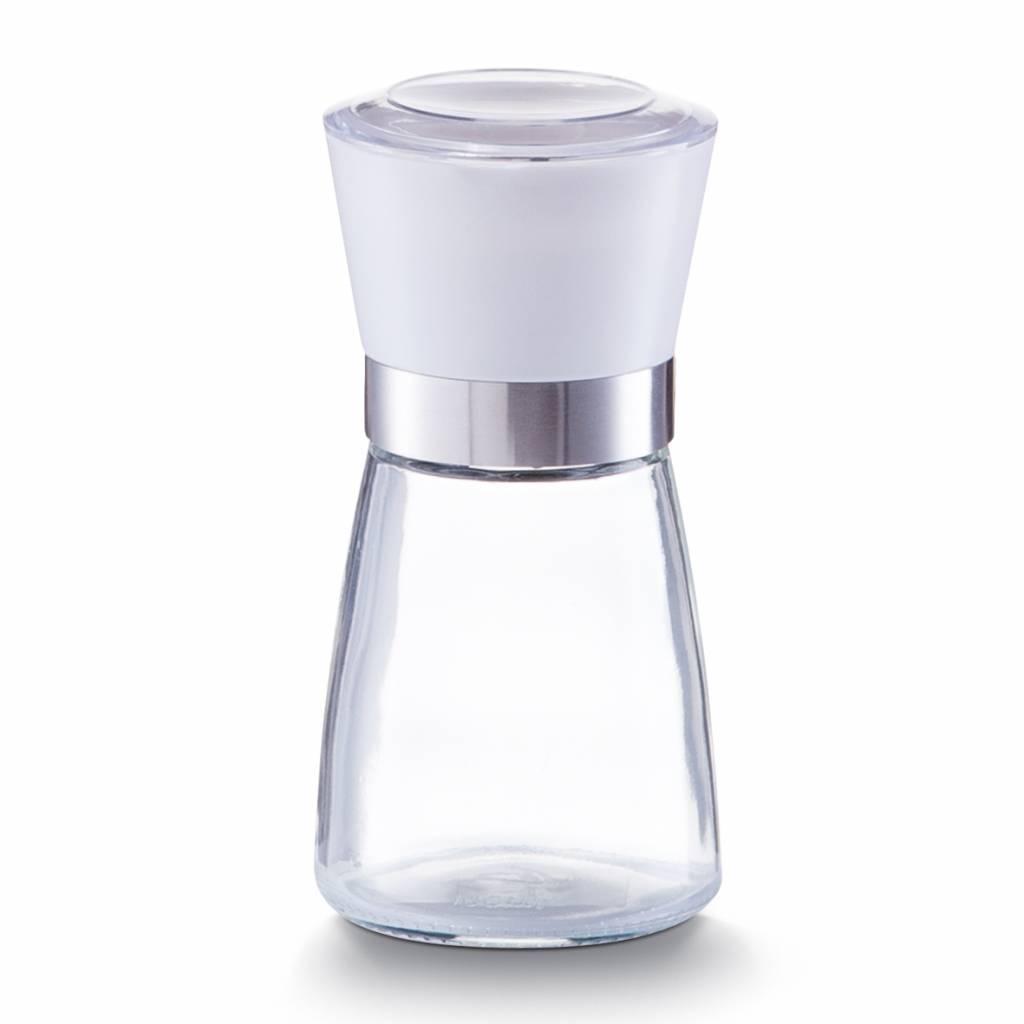 Pfeffermühle aus Glas, weiß - M
