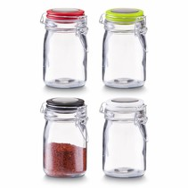 Spice jars with bracket closure