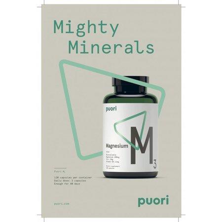 Puori M3 Magnesium - 120 capsules