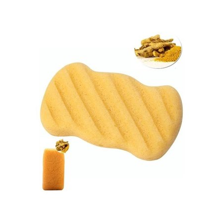 Nutrikraft Konjac svamp gul - rektangel ribbed