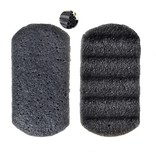 Nutrikraft Konjac-Schwamm schwarz rechteckig geriffelt