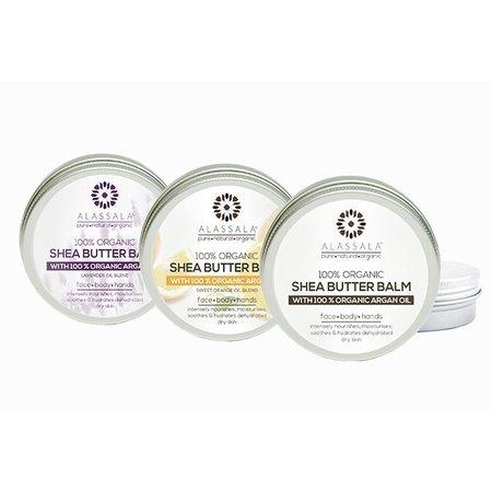 Alassala Shea boter balm 100% biologisch argan olie en Orange - 50 ml