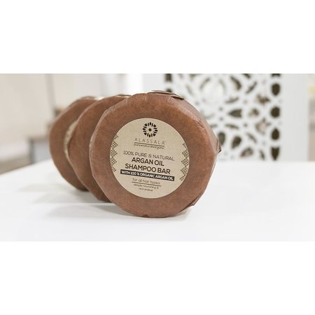 Alassala Shampoo arganolie naturlige sæbestykker omkring-85 gram