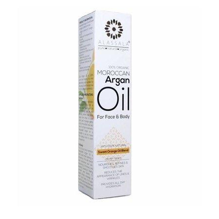 Alassala Argan olie For Face and Body Sweet Orange 15 ml