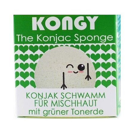 Kongy 100% natuurlijke konjac spons - groene klei