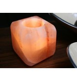 Teelichthalter Himalaya-Salz cube - 700g
