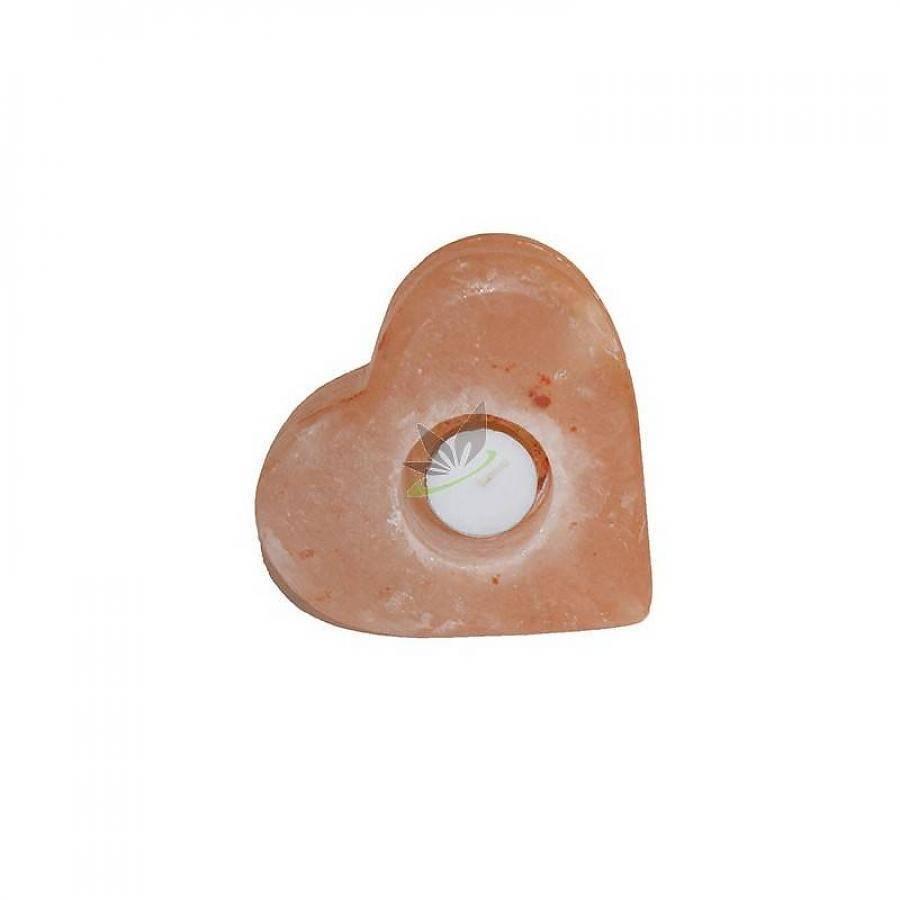 Teelicht aus Himalaya-Salz - Herzform - 1,4 kg