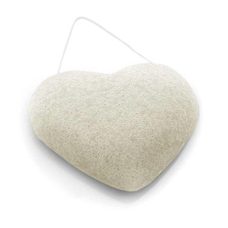 konjac svamp ren hvid - hjerte