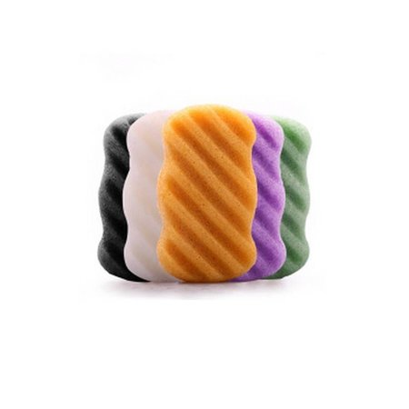 Konjac Sponge lavendel lilla - rektangel ridged