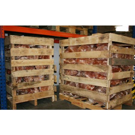 Himalayazout ruwe zoutbrokken -750kg pallet 2-25 kg/brok