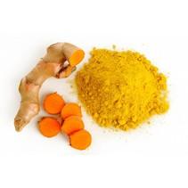 >Naast curcumine bevat kurkuma eveneens vitamine A, B12, B6, C en D en de mineralen magnesium, calcium en ijzer. Kurkuma smaakt bitter en peperig en wordt gebruikt in gerechten met bonen, kip (kip kerrie), eieren, vis, vlees en rijst (gele rijst). Voeg he