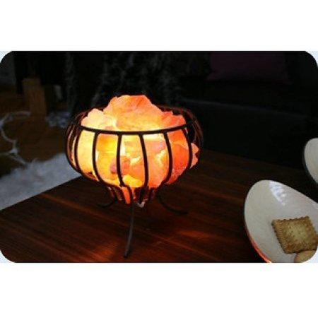 Himalaya-Salzlampe - Feuerkorb - 3kg