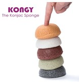 Kongy 100% natuurlijke konjac spons - bamboe houtskool