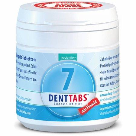 Denttabs tandenpoets kauwtabletten zonder fluoride 125 stuks