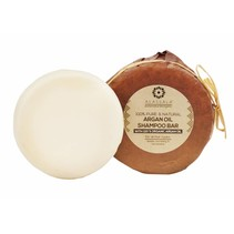 Shampoo Natuurlijk Argan olie zeepblok rond- 85 gram