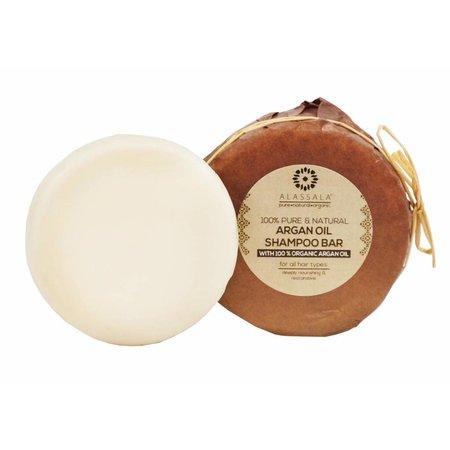 Alassala Shampoo natuurlijk Argan olie zeepblok rond- 85 gram