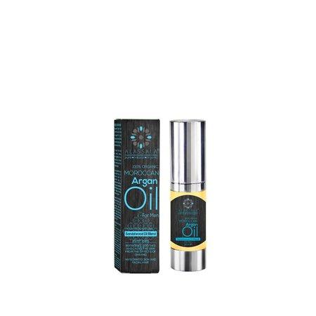 Alassala Økologisk Argan olie med sandeltræ for mænd 15 ML