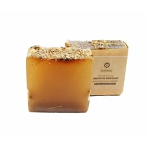 Zeepblok Rhassoul Clay & lavendel Økologisk Argan olie sæbe-100g