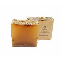 Zeepblok Rhassoul klei & lavendel Argan olie zeep Biologisch-100 gram