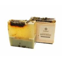 Zeepblok fransk ler og pebermynte olie Argan sæbe biologisk 100g