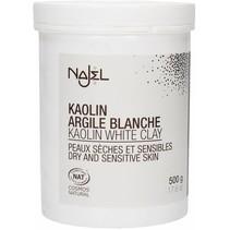 Hvidt ler maske kaolin ler pulver - 500 g
