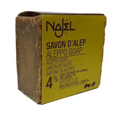 Najel Aleppo regelmæssig sæbe 4% bla - 200g