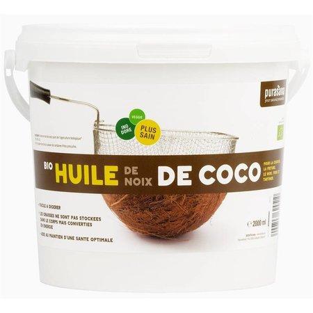 Purasana Organisk desodoriseret kokosolie - 2000ml