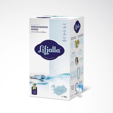 Lifjalla naturligt rent vand fra Island - 10 liter