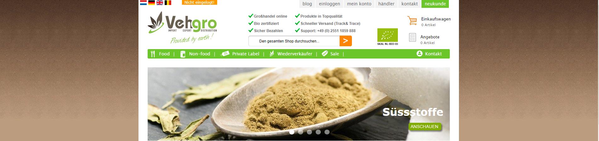 Grosshandel biologische Naturnahrungsprodukte