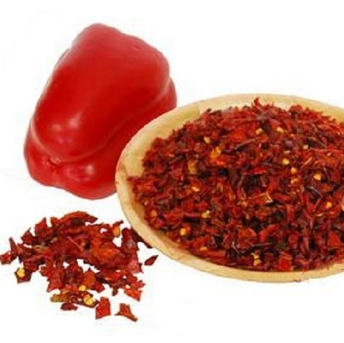 Organic Sweet pepper Flakes red 9 mm