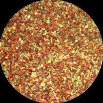 Biologische paprikavlokken rood-groen