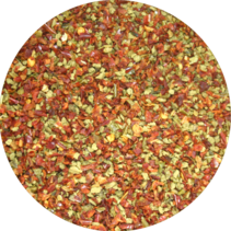 Organic Sweet Pepper Flakes Red-Green 9 mm