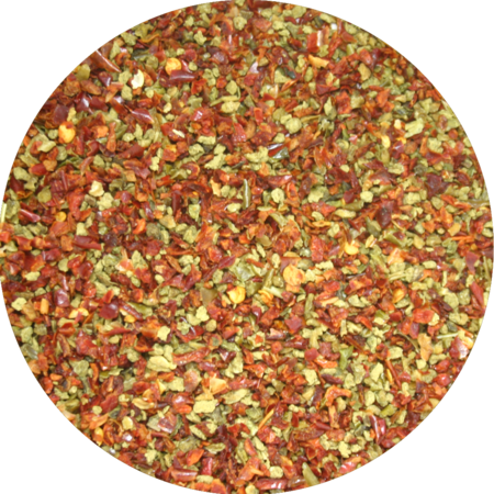 HolyFlavours Organic Sweet pepper Flakes red-green