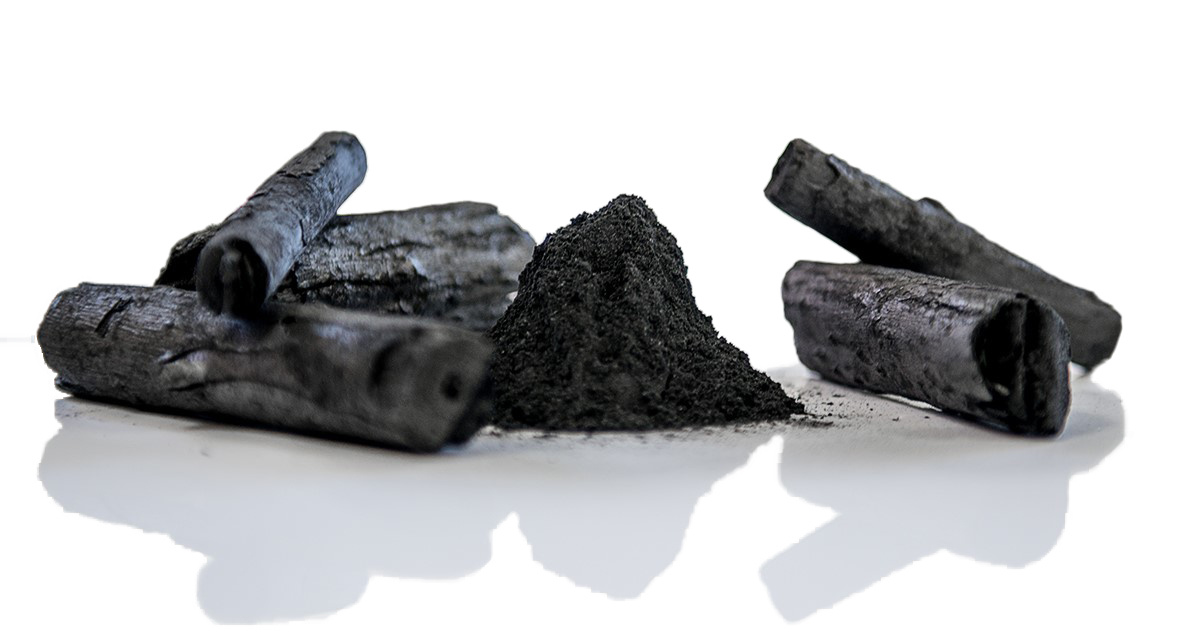 Organic activated charcoal detox