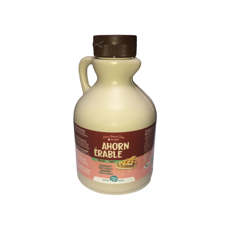 bio ahornsiroop maple syrup klasse C in plastic jug - 500ml