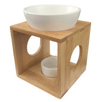 Aromalamp hout-wit